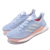 adidas 慢跑鞋 Solar Boost 19 W 藍 粉紅 女鞋 運動鞋 【PUMP306】 G28034