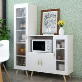 現代簡約餐邊櫃櫥櫃碗櫃客廳餐廳儲物櫃多功能茶水櫃微波爐烤箱櫃