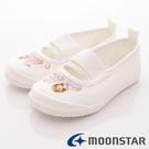 【MOONSTAR】日本Carrot機能童鞋-蘇菲亞室內鞋款-DNS011-白-(15cm-19cm)