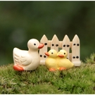CARMO小鴨鴨+柵欄組微景觀 盆栽裝飾 暖心【A018006】