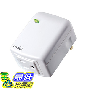 [106美國直購] 智能插座 Leviton DZPA1-2BW Decora Smart Plug-in Outlet with Z-Wave Plus Technology