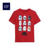 Gap男童 星球大戰系列圖案圓領短袖T恤 497337-摩登紅色