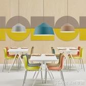 北歐簡約現代個性吧台咖啡廳創意臥室餐廳燈馬卡龍簡歐吊燈燈罩 NMS生活樂事館