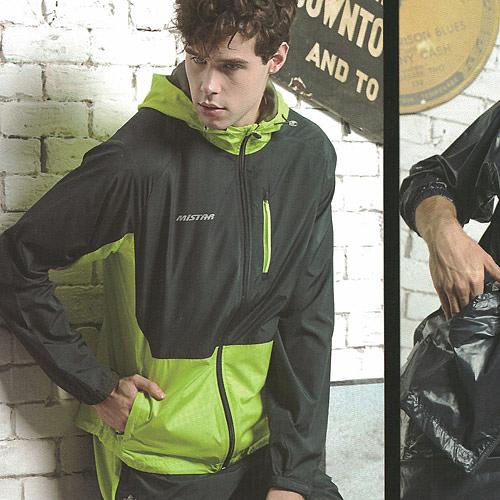 MILD STAR  男女平織網裡運動服套裝[全套]-深灰/螢綠-JS601707+PW705207