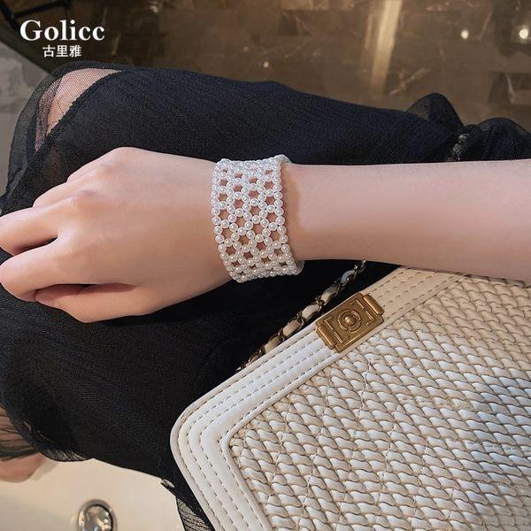米蘭 春夏新款珍珠編織手環ins網紅推薦仙氣迷人手錬優雅復古手鐲手飾