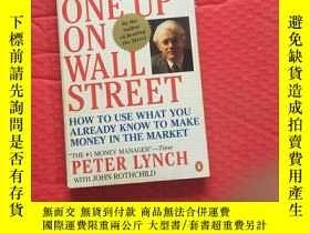 二手書博民逛書店英文原版罕見One up on Wall Street: How