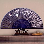 女式扇子 日式折扇中國風扇子 絹扇和風夏季女扇櫻花古風折疊扇子  汪喵百貨