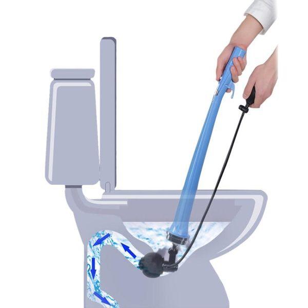 通馬桶疏通器廁所管道下水道工具堵塞吸一炮通高壓氣皮搋子機神器   極客玩家