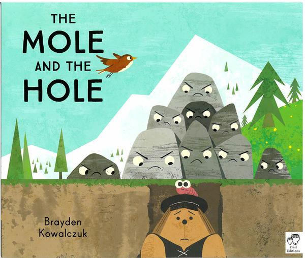 【麥克書店】THE MOLE AND THE HOLE /英文繪本《主題: 自我.群體關係.幽默》