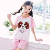 夏裝兒童睡衣女童家居服純棉小孩短袖寶寶薄款女孩空調服套裝夏季   任選一件享八折