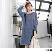 《FA0780》仿羊絨素面落肩造型針織洋裝.3色--適 2L~4L OrangeBear
