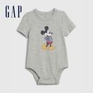 Gap嬰兒 Gap x Disney 迪士尼短袖包屁衣 626280-灰色