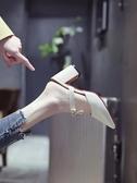 尖頭拖鞋涼拖女鞋新款夏秋韓版包頭尖頭半拖鞋高跟粗跟穆勒拖鞋女外穿 時尚新品