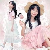大童可~夢幻雪紡壓褶蛋糕長紗裙-3色-追加到貨(290005)【水娃娃時尚童裝】