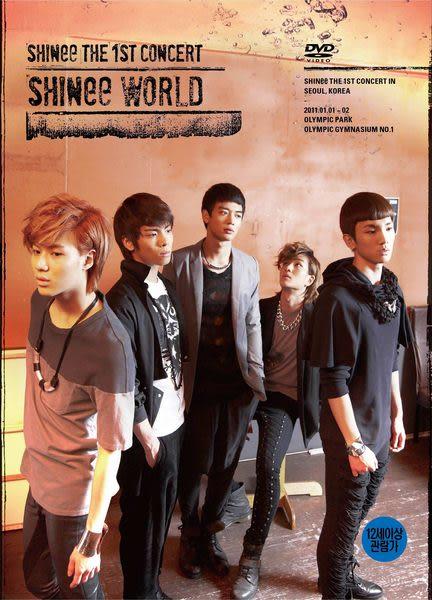SHINee THE 1ST CONCERT SHINee WORLD 雙DVD (音樂影片購)