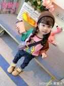 童裝女童t恤小童韓版長袖體恤兒童秋裝上衣衣女寶寶  莫妮卡小屋