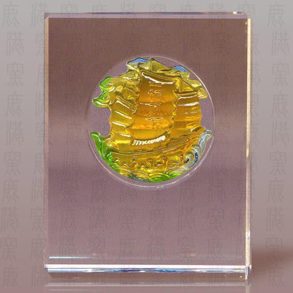 鹿港窯~居家開運S水晶鑲琉璃~一帆風順◆附精美包裝◆附古法制作珍藏保證卡◆免運費送到家