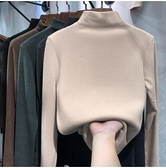 半高領打底小衫秋冬內搭2021新款洋氣純色上衣外穿修身t恤女ins潮 貝芙莉