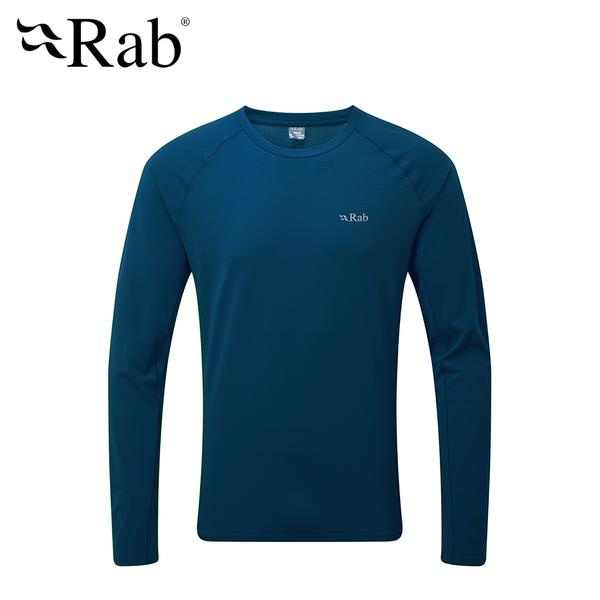 英國 RAB Force LS Tee  透氣長袖排汗衣 男款 墨藍 #QBU68