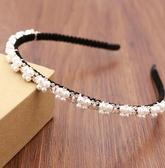 發箍女頭飾合金珍珠鉆石頭箍包布防滑氣質發卡兒童女童發飾品