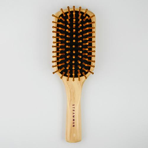 STRAW MAN 竹針梳(M545) 1入 美髮梳 氣墊梳 梳子 STM【新高橋藥妝】