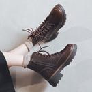馬丁靴女秋冬 2020年新款百搭厚底粗跟 加絨英倫風冬季靴子女鞋短靴 降價兩天