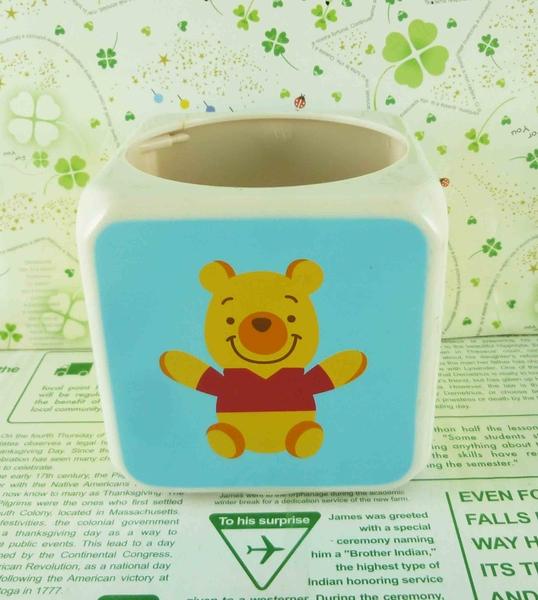 【震撼精品百貨】Winnie the Pooh 小熊維尼~方筆筒-藍