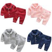 女童夾棉睡衣冬季加厚兒童家居服0歲1男寶寶珊瑚絨套裝秋冬兩件套   夢曼森居家