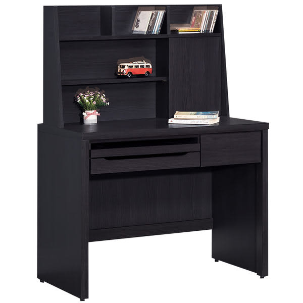 【時尚屋】[G15]米樂黑3尺電腦桌220-4免運費/免組裝/書桌/電腦桌/台灣製