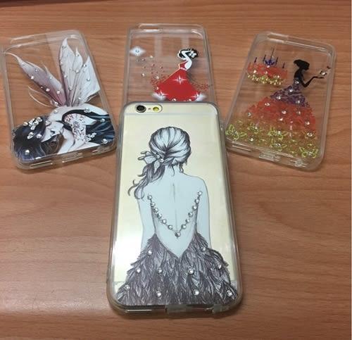 【世明國際】iPhone 6/6+/6s/6s+ 文青 鑲鑽 女孩 插畫 漫畫 浪漫 Queen 公主 i6plus 軟殼 潮 保護套