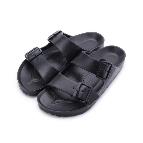 AIRWALK 雙扣環AB拖鞋 黑 A535220120 男女鞋 鞋全家福