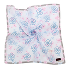 CLATHAS 經典滿版山茶花純綿領巾(水藍色)989265-1