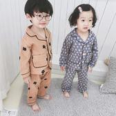 兒童睡衣女童純棉長袖男童磨毛卡通小孩【不二雜貨】