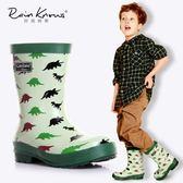 好雨時節 卡通恐龍男兒童雨鞋男孩雨靴環保橡膠春夏兒童恐龍雨靴 瑪麗蘇