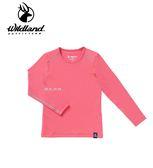 丹大戶外用品 荒野【Wildland】女童輕量鍺纖維親膚保暖衣 型號 0A62669-16 蜜桃紅