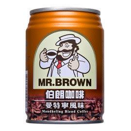 《免運直送》金車伯朗曼特寧咖啡(三合一)240ml-24罐/箱