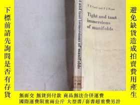 二手書博民逛書店Tight罕見and taut immersions of ma