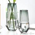 北歐ins原色玻璃花瓶水養富貴竹養鮮花透明花瓶客廳插花花器擺件 范思蓮恩