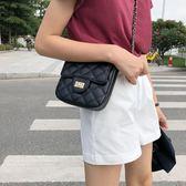 包包女2019新款潮韓版百搭斜背上新迷你小方鍊條包菱格小背包單肩