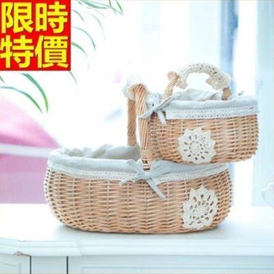 野餐籃(大)-日式蕾絲田園風郊遊用品68e2[時尚巴黎]