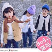 韓版糖果色系羽絨棉保暖馬甲 兒童背心