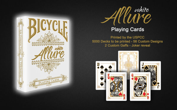 【USPCC 撲克】BICYCLE ALLURE white playing cards 撲克牌