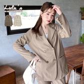 LULUS【A03200061】C雙排釦西裝外套2色