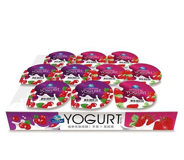 促銷到8月10日 低溫宅配無超取 FRESH DELIGHT 福樂 低脂優格 LOW FAT YOGURT C99908