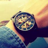 流行男錶手錶男士機械錶男錶全自動中學生防水夜光潮流鏤空運動腕錶wy