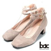 ★新品上市★bac台灣製造 嚴選真皮瑪莉珍高跟鞋-灰色
