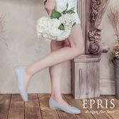 現貨 平底娃娃鞋推薦 星心公主 全真皮舒適好穿跟鞋 版型偏大 21-26 EPRIS艾佩絲-文青藍