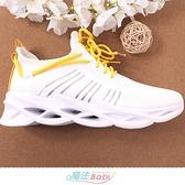 男運動鞋 極輕量超彈力透氣慢跑鞋 魔法Baby