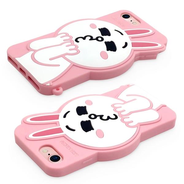88柑仔店---GARMMA Line Friends iPhone 7/6S/6 -立體矽膠果凍套 可愛莎莉