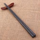 套裝日式筷子防滑耐高溫合金筷子不發霉不銹酒店尖頭筷子套裝